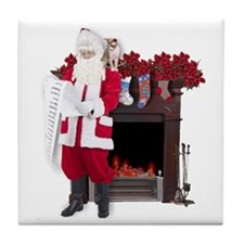 """Check again, Santa..."" Tile Coaster"