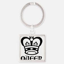 queen.jpg Square Keychain