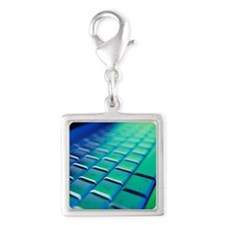 Computer keyboard - Silver Square Charm