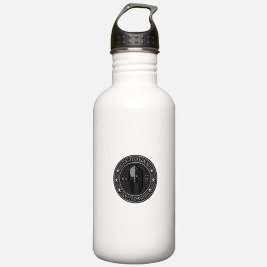 I THINK, THEREFORE I AM ARMED Water Bottle