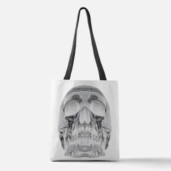 Crystal Skull Polyester Tote Bag