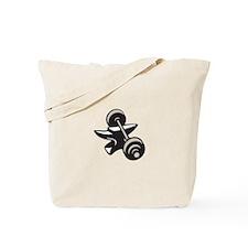 Anvil And Barbell Retro Tote Bag