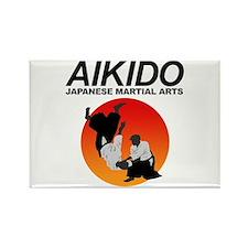 Aikido 3 Rectangle Magnet