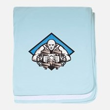 Strongman With Dumbbell In Chains baby blanket