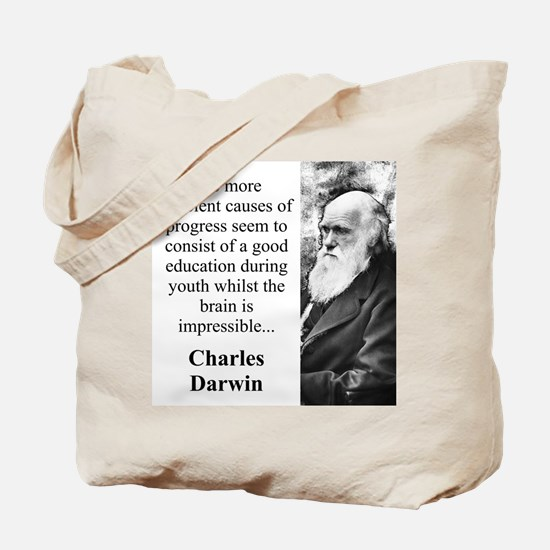 The More Efficient Causes - Charles Darwin Tote Ba
