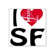 I Love SF Rectangle Sticker