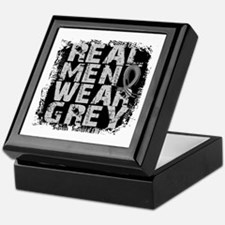 Real Men Brain Tumor Keepsake Box