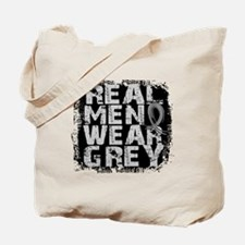 Real Men Brain Tumor Tote Bag