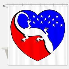 I Love The USA Gecko! Shower Curtain