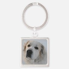Great Pyrenees Square Keychain