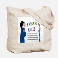 Pregnant Guess Who Tote Bag