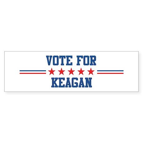Vote for KEAGAN Bumper Sticker