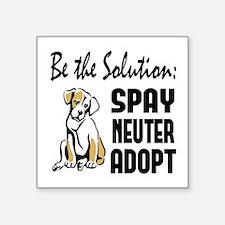 "Spay Neuter Adopt Square Sticker 3"" x 3"""