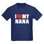 I Love My Nana Kids Dark T-Shirt