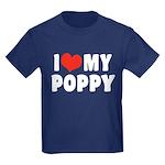 I Love My Poppy Kids Dark T-Shirt