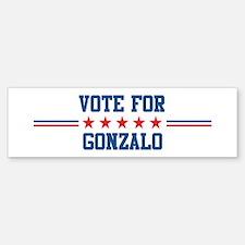 Vote for GONZALO Bumper Bumper Bumper Sticker