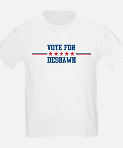 Vote for DESHAWN Kids T-Shirt