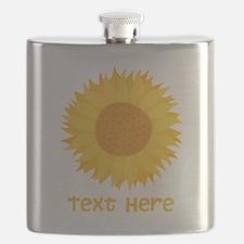Sunflower. Custom Text. Flask