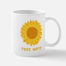 Sunflower. Custom Text. Mug