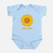 Sunflower. Custom Text. Infant Bodysuit