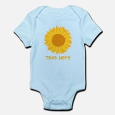 Sunflower. Custom Text. Onesie