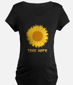 Sunflower. Custom Text. T-Shirt