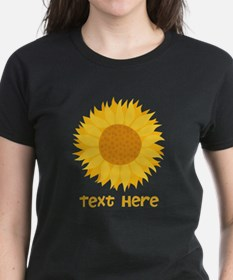Sunflower. Custom Text. Tee