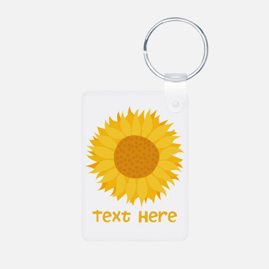 Sunflower. Custom Text. Keychains
