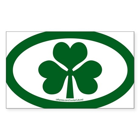 Shamrock Euros Oval Sticker