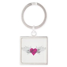 Mollie-angel-wings.png Square Keychain