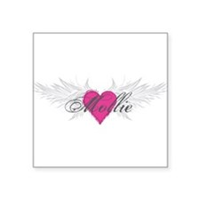 """Mollie-angel-wings.png Square Sticker 3"""" x 3"""""""