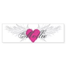 Mollie-angel-wings.png Car Sticker