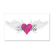 Mollie-angel-wings.png Car Magnet 20 x 12