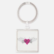 Millie-angel-wings.png Square Keychain