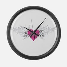 Millie-angel-wings.png Large Wall Clock