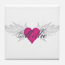 Millie-angel-wings.png Tile Coaster