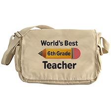 6th Grade Teacher Pencil Messenger Bag