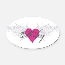 Miley-angel-wings.png Oval Car Magnet