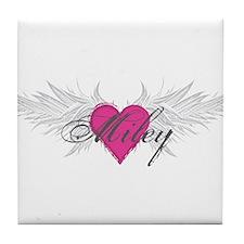 Miley-angel-wings.png Tile Coaster