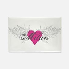Milan-angel-wings.png Rectangle Magnet