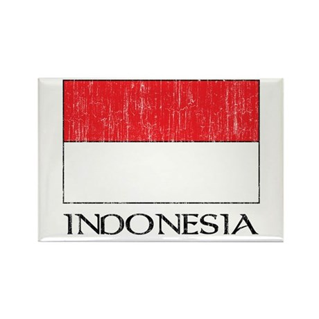 Indonesia Flag Rectangle Magnet