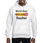 6th Grade Teacher Pencil Hooded Sweatshirt