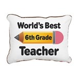 6th Grade Teacher Pencil Rectangular Canvas Pillow