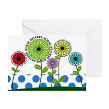 retired nurse pillow 2013 Greeting Card