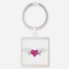 Miah-angel-wings.png Square Keychain