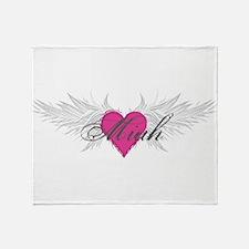 Miah-angel-wings.png Throw Blanket