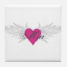 Mia-angel-wings.png Tile Coaster