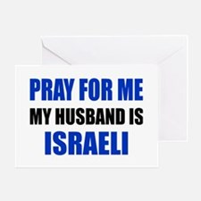 Pray Husband Israeli Greeting Card