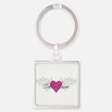 Melina-angel-wings.png Square Keychain