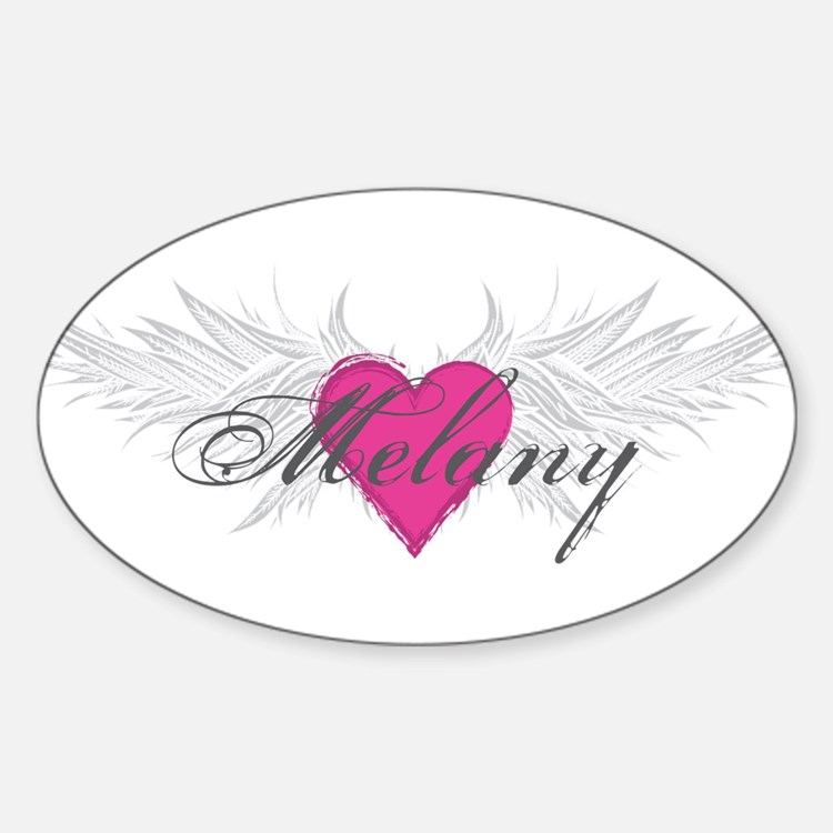 Melany-angel-wings.png Sticker (Oval)